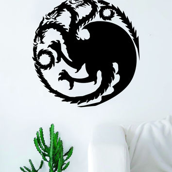 Game of Thrones House Targaryen Decal Sticker Wall Vinyl Living Room Bedroom Art Decor TV Shows Dragon