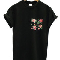 Black Rose Pocket Tee