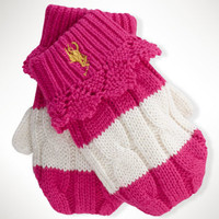 Rugby-Striped Cotton Mittens