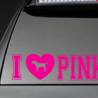 "Victoria's Secret, ""I Love Pink"" - Car, Laptop, Cell Phone Decal - Free Shipping"
