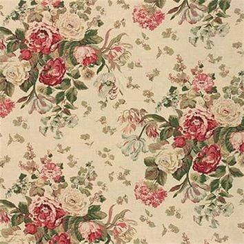 Mulberry Fabric FD206.W29 Floral Bouquet Soft Pi