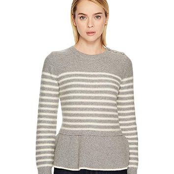 Kate Spade New York Stripe Peplum Sweater
