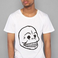 Cheap Monday The Bruce Skull Tee in White,T-shirts for Men