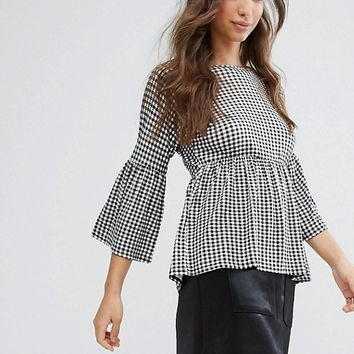 Daisy Street Oversized Gingham Top at asos.com