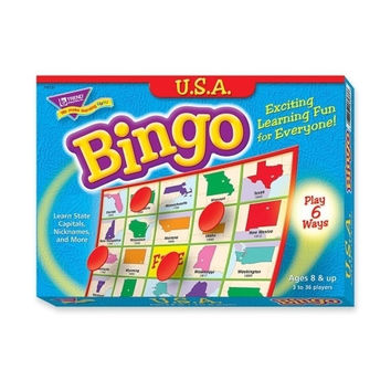 trend enterprises usa bingo game, 3-36 players, 36 cards/mats Case of 3