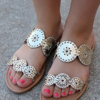 Knight In Shining Armor Sandals: Gold