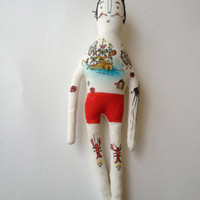 Salvador Dali - art doll-Tattoo Sleeve- Plush Doll