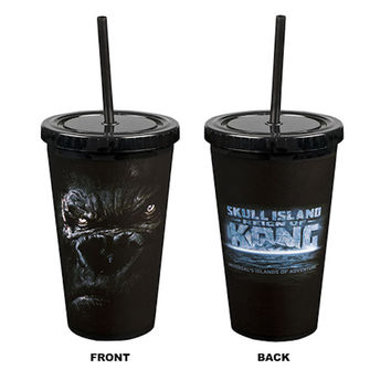 Universal Studios Skull Island Reign Of Kong Tumbler With Straw New