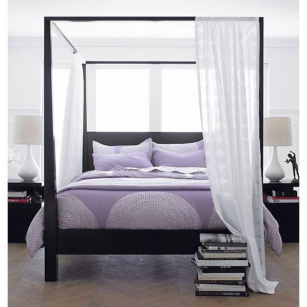 Pavillion Black Canopy Bed In Beds From Crate And Barrel