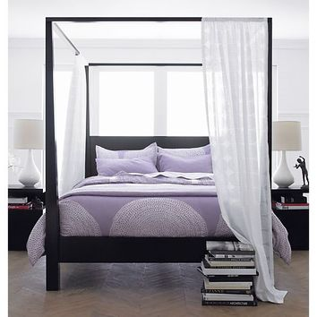 Pavillion Black Canopy Bed in Beds, Headboards | Crate and Barrel