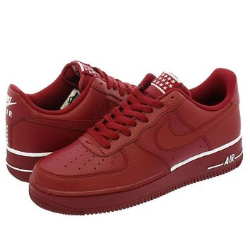 NIKE AIR FORCE 1  07 New Fashion Running Casual Sports Women Men Sneakers  Shoes Red 7d0943269