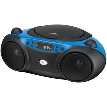 Gpx Sporty Cd & Radio Boom Box (blue)