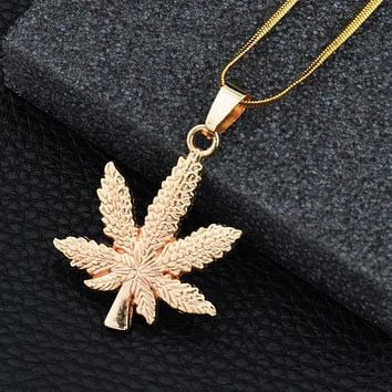 New Arrival Stylish Gift Jewelry Shiny Alloy Leaf Necklace [10768847555]