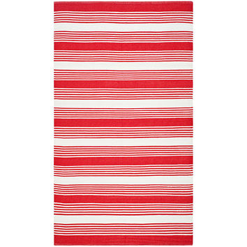 THOM FILICIA Home TMF155F-6 Indoor/Outdoor Red Rectangular: 6 Ft. x 9 Ft. Rug - (In Rectangular)