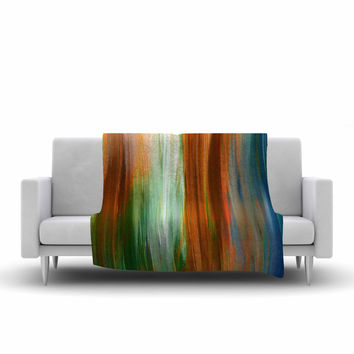 "Ebi Emporium ""Irradiated 4"" Brown Green Fleece Throw Blanket"