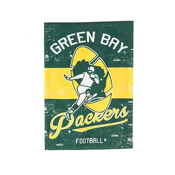 Green Bay Packers Throwback Football Flag