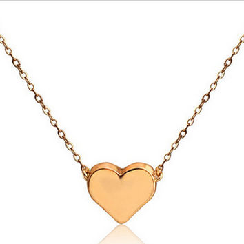 TALIANA // 18 Karat Plated Floating Small Heart Necklace