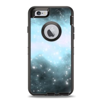 The Bright Blue Vivid Galaxy Apple iPhone 6 Otterbox Defender Case Skin Set