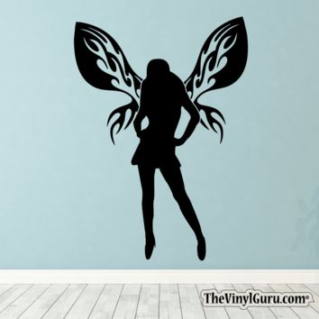 Sexy Angel Pin-Up Girl Wall Decal XIV