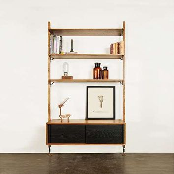 Nuevo Living Theo Wall Unit with Sliding Cabinet