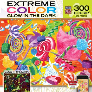 Extreme Color - Glow in the Dark - Bright Delight - 300 Piece EZ Grip Jigsaw Puzzle