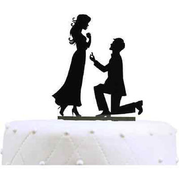 "Unik Occasions ""Will You Marry Me"" Engagement Acrylic Cake Topper"
