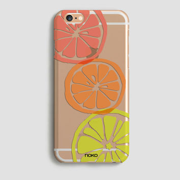 NOKO Transparent Lemon iPhone 6 Case, Clear iPhone 6s case, Lemon iPhone 6 Plus Case, iPhone 6s plus case