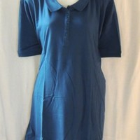 Woman Within Polo Shirt  Size 4X  34/36 Petite Green