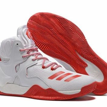 Famous Brand Adidas D Rose 7 Primeknit Red & White Derrick Men's Basketball Shoes