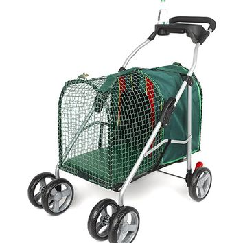 "Kittywalk Emerald Pet Stroller Green 26"" x 14"" x 35.5"""