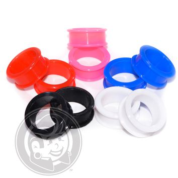 5 Pairs - 5 Colors of Silicone Tunnels
