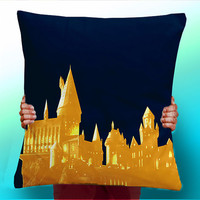 Harry Potter Hogwarts Castle blue Ravenclaw Color  - Cushion / Pillow Cover / Panel / Fabric