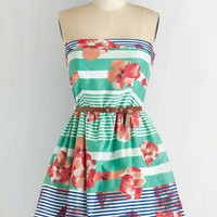 Strapless Fit & Flare Vacation Calls Dress by ModCloth