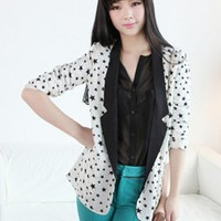 Lapel A Deduction Chiffon Suit$47.00