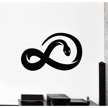 Vinyl Wall Decal Infinity Sign Snake Abstract Animal Stickers Mural (g401)