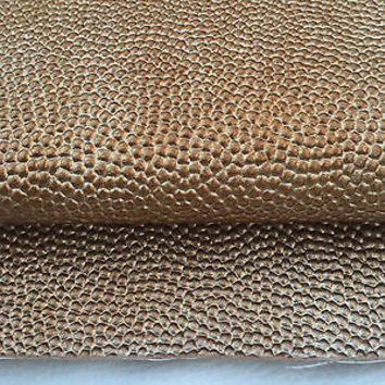 "58"" Orange & Brown Scale Faux Leather Fabric Vinyl Upholstery By the Yard"
