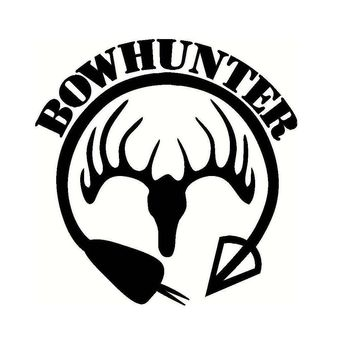 Bow Hunter Deer Head Archery Vinyl Decal Sticker