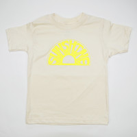 Sunshine Kids Short Sleeve Organic Tee in Natural