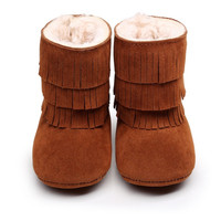 Fleece fur boots- Brown