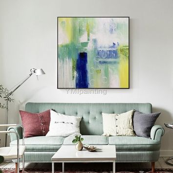 Modern art abstract Painting on canvas Original texture agate acrylic blue painting large art wall pictures home decor cuadros abstractos