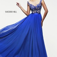 2014 Sherri Hill Sheer Straps Homecoming Dress 11151