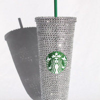 Silver Starbucks Cold Cup
