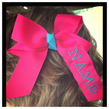Monogrammed Hair Bows by OwlOutfitters on Etsy