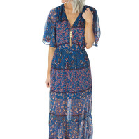October Skies- Maxi Dress
