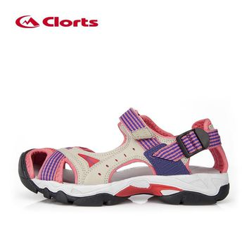 Clorts Sandals for Women PU Breathable Aqua Shoes for Hiking EVA Sport Outdoor Sandals Women Hiking Sneakers SD-202