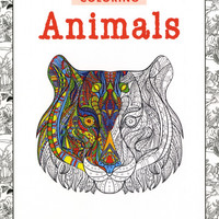 Zen Coloring Animals Adult Coloring Book