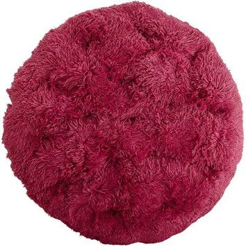 Shaggy Papasan Cushion - Raspberry