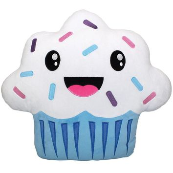 Cute Stylish Long Lasting Sweet Scented Pillows, Blue Cupcake
