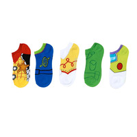 Disney Toy Story Cosplay No-Show Socks 5 Pair