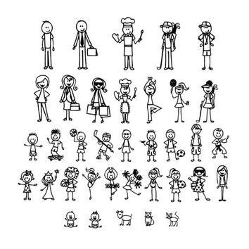 Personalized stick figure family car stickers interesting motorc